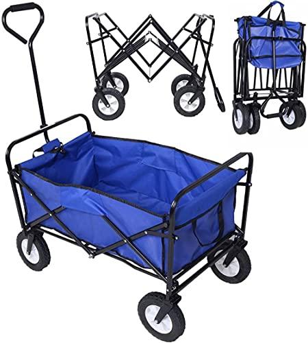 QPP-CL Carrito Plegable Plegable Carro jardín Buggy Compras Playa Juguete Deportes