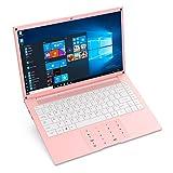 Laptop Computer 14 inch Windows 10 Notebook PC - HAOQIN HaoBook140 Intel Celeron N3350 6GB DDR RAM 128GB SSD HD IPS Display 5.0GHz WiFi Bluetooth 4.2 HDMI Pink