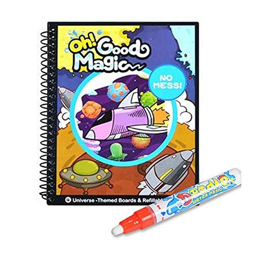 FOONEE Juguete Pintura Mágica del Agua, Reutilizable Libro Magico Agua, Libro para Colorear Doodle con Magic Pen Tablero, Juguetes Educativos Tablero Dibujo Graffiti para Bebés Niños de 0 a 4 años