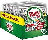 Fairy Platinum Plus Pastillas Lavavajillas, 100 cápsulas (5 x 20), Limón, Mega Pack