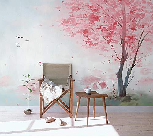 Roze Ins Behang Meisje Hart Slaapkamer Wandbedekking Prinses Kamer Behang Oude Muur Mural Net Rode Achtergrond Wanddoek 300 * 210cm(118.1 x 82.7 inch)