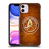 Official Star Trek Discovery Starfleet Distressed Badges Hard Back Case Compatible for iPhone 11