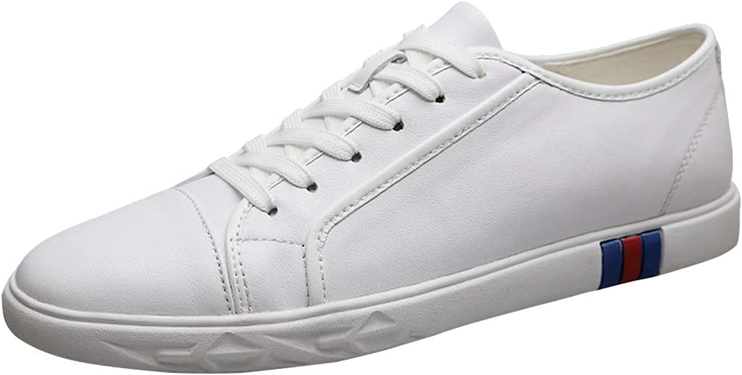 Sun Lorence Men's Lightweight Flexible Leisure shoes Low-Top Leather Fashion Sneakers