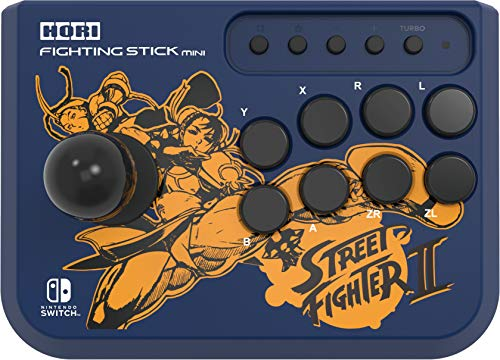 Hori Fighting Stick Mini - Edizione Street Fighter II (CHUN-Li/Cammy) - Ufficiale Nintendo e Capcom - Nintendo Switch