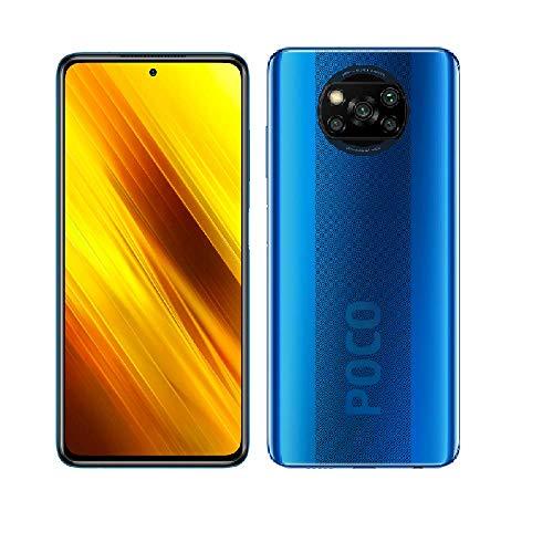 """Xiaomi POCO X3 Teléfono 6GB RAM + 64GB ROM, 6.67"""" Display LCD Dot, Snapdragon 732G Octa-core Processore, 20MP Anteriore & 64MP+13 MP+2MP+2MP AI Quad Telecamera Posteriore Globale Version (Blu)"""