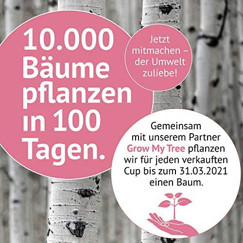 DIVINE CUP Menstruationstasse – Pretty in Pink/Rosa – Made in Germany – geruchlos – medizinisches Silikon – Alternative zu Tampons und Binden (S – Klein) - 5