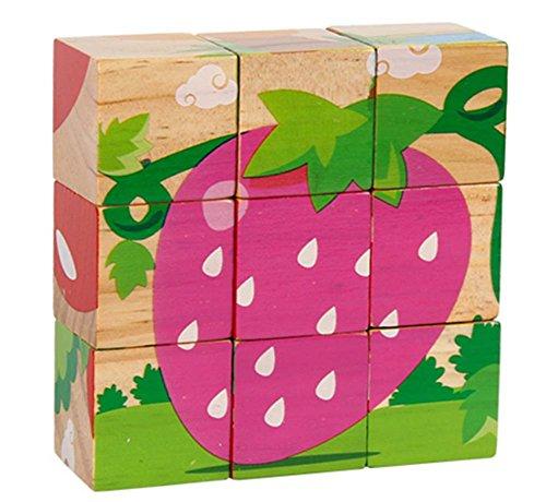 Three-Dimensional Building Blocks 9 Grains Puzzle Wood (3-6 ans)