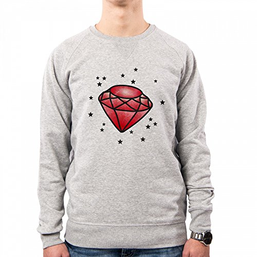 PACDESIGN Sudadera Hombre Graphic Diamond Tattoo Old Style Rockabilly Stars Ne0124a