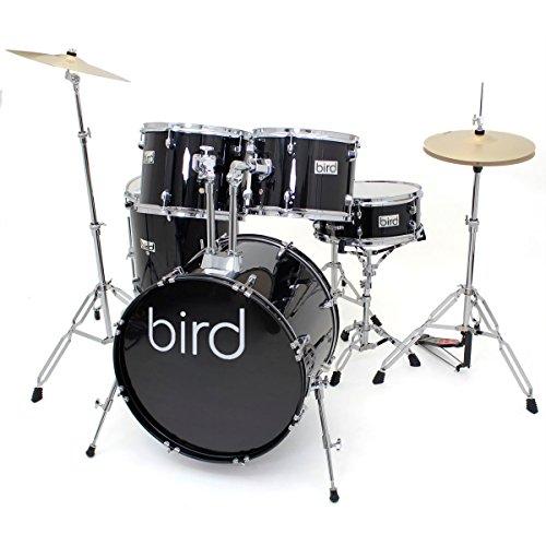 Bird DS200BK standard Drum Set, 55,88cm (22pollici)