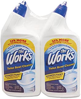 the Works 33302WK Disinfectant Toilet Bowl Cleaner, 32 oz Bottle, 2/Pack