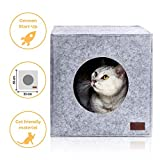 PiuPet Panier chat coussin inclus, Compatible avec IKEA Kallax étagères