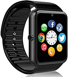 smartwatch with bluetooth and camera for samsung iphone and android