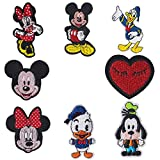 XINYID 8pcs Disney Anime Patch Cute Girl Boys Applique Embroidered Patches Appliques for Clothes, Backpacks, DIY on Patch