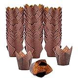Huante Tulip Cupcake Liners Pack de 300 Tazas para Hornear Envoltorios de Muffins Fiestas de Cumpleaaos, Bodas, Panaderías, Restaurantes
