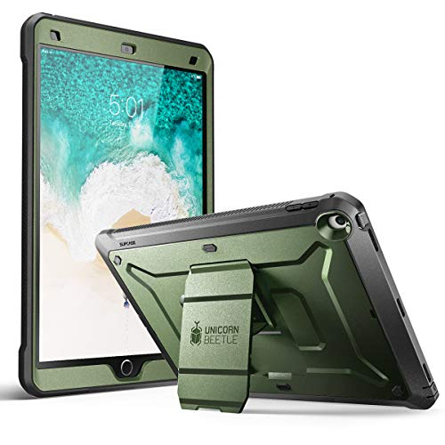 SUPCASE Unicorn Beetle PRO Case for iPad Air 3 (2019) and iPad Pro 10.5'' (2017), Heavy Duty with Built-in Screen Protector Full-Body Rugged Protective Case (Green)