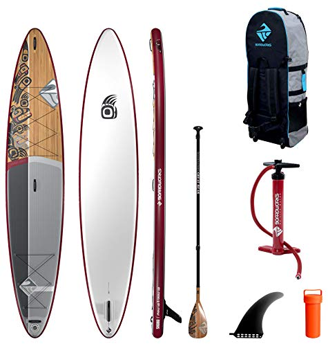 Boardworks SHUBU Great Bear | Touring All Water Inflatable Stand Up Paddleboard | SUP Package...