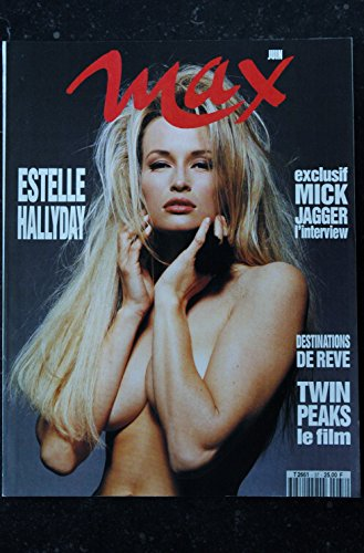 MAX 037 N° 37 COVER ESTELLE HALLYDAY + POSTER MICK JAGGER INTERVIEW PATSY KENSIT TOPLESS