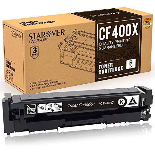 STAROVER Cartucho de Tóner Compatible Reemplazo para HP 201A 201X CF400A CF400X para HP Color Laserjet Pro MFP M252dw M252n M277dw M277n M274n M274dw Impresora (1 Negro)