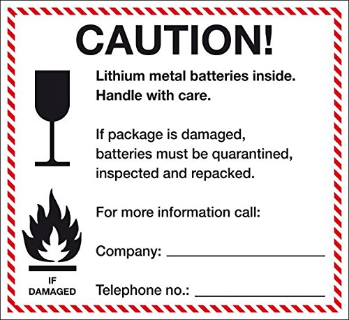 LEMAX® Verpackungskennz. Lithium-Metall-Batterien,ADR 188 f),englisch,Folie,120x110mm