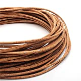 Cordón de corcho, natural y vegano, fabricación y diseño de joyas, respetuoso con el medio ambiente y orgánico, varios tamaños y estilos disponibles COR 189