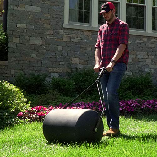 Brinly PRC-24BH 270-Pound Combination Push/Tow Poly Lawn Roller