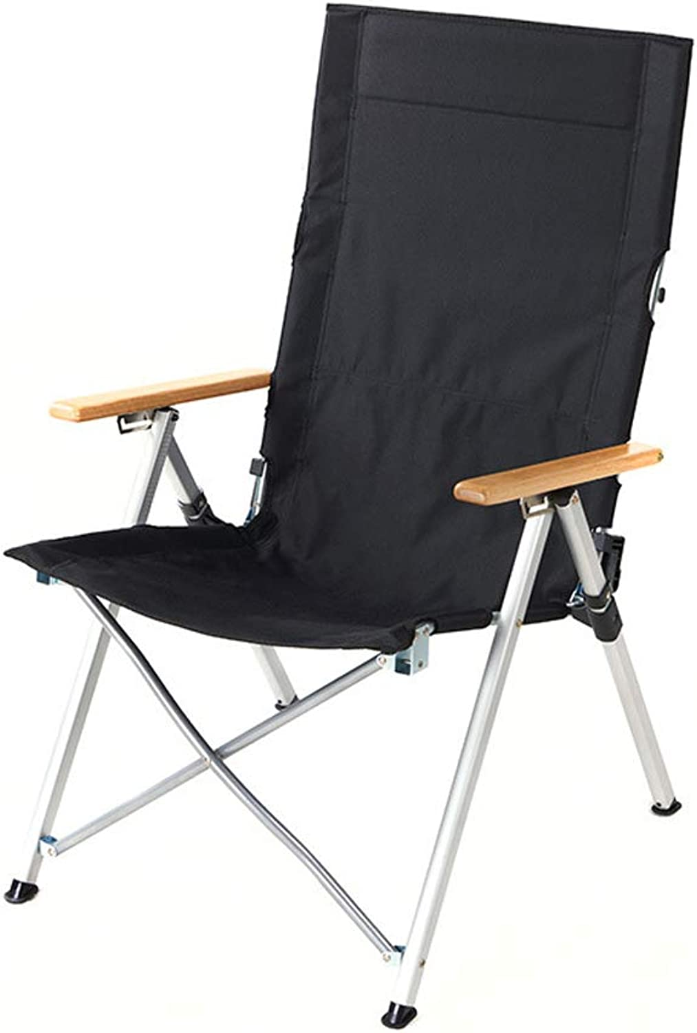 Outdoor Portable Aluminum Folding Chair Portable Recliner Fishing Sketch Chair Leisure Camping Beach ChairBlack