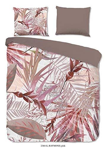 Good Morning! Raymond 2364.70.03 - Juego de cama (3 piezas, funda nórdica de 240 x 220 cm y funda de almohada de 60 x 70 cm), color rosa