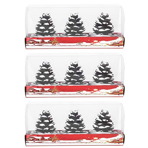 KUIDAMOS 4.5 x 4.4cm Christmas Mini Candles for Graduation