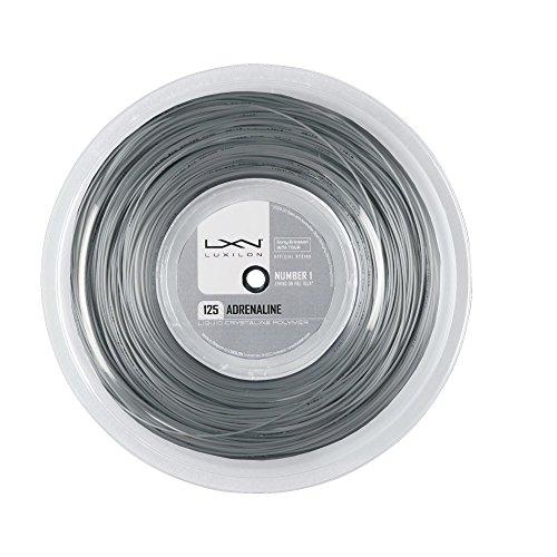 Luxilon Adrenaline 130 Cordaje de tenis, rollo 200 m, unisex, gris, 1.30 mm