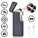 ASANMU Lichtbogen Feuerzeug, USB Elektro Feuerzeug Aufladbar Laserinduktion Dual Lichtbogen...