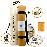 aGreenie Premium Eco Yogamatte Tasche Set - Kork...