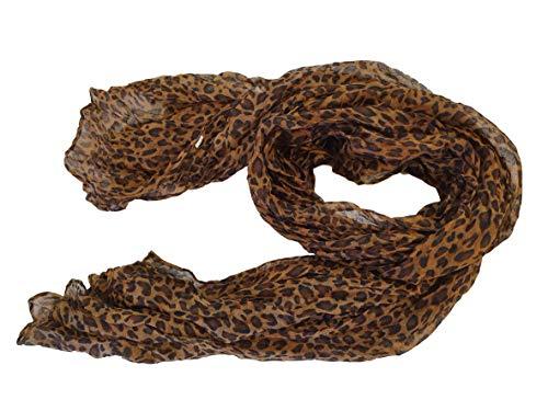 """braun kleines Tier Promi Stil Leopardenmuster Tupfen groß Damen Schal Halstuch 70\"""" x 40\"""" von fett-catz - Braun, 70\"""" x 40\"""""""