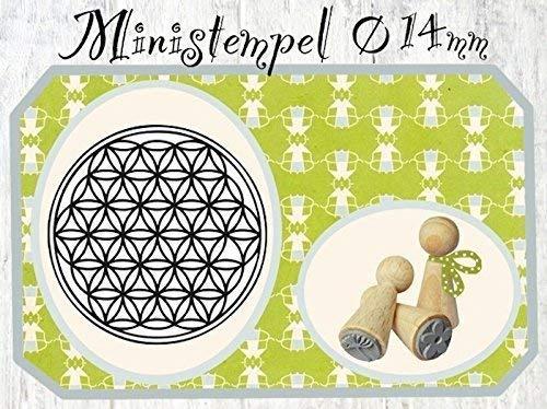 Zwergenstempel Blume des Lebens, Ø14mm, fast 400 lustige Stempel-Motive im Shop, nur 1x Versandgebühren