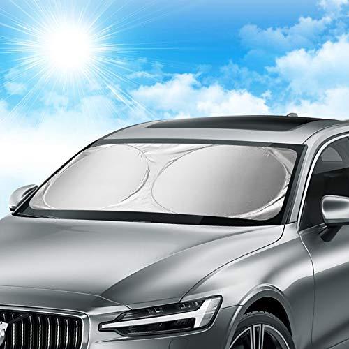 Orlegol Auto Sonnenschutz Frontscheibe, Sonnenblende für die Windschutzscheibe, Sonnenschutz Windschutzscheibe, Auto Sonnenblende UV-Schutz Frontscheibenabdeckung für Kinder, Hunde und Babys -150x70cm