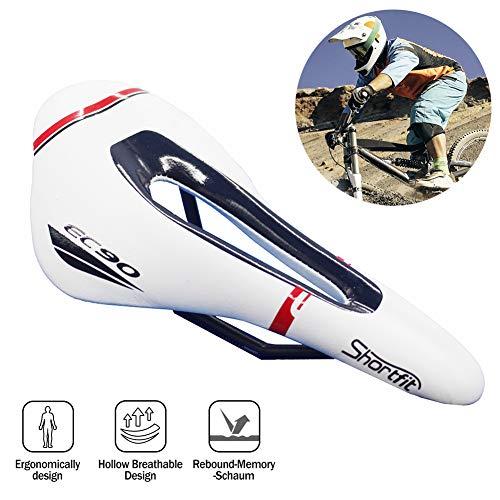 DASGF fietszadel, professioneel mountainbikegel zadel, ademend MTB-fietskussen met centrale reliëfzone en ergonomisch ontwerp, geschikt voor racefiets en mountainbike, kinderfiets