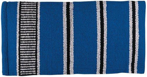 Weaver Leather Double Weave Saddle Blanket, Blue/Gray/Black