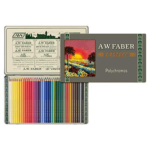 Faber-Castell 211003 - Polychromos Farbstift, Sonderedition, 36er Metalletui