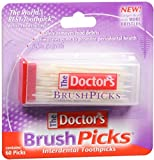 The Doctor's BrushPicks Interdental Toothpicks | Helps Fight Gingivitis | 60 Count (Pack of 1)