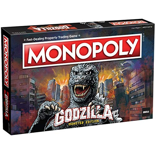 Monopoly Godzilla | Basado en la franquicia clásica de la película monstruo Godzilla | Juego de monopolio coleccionable con ubicaciones familiares y monstruos icónicos de Kaiju