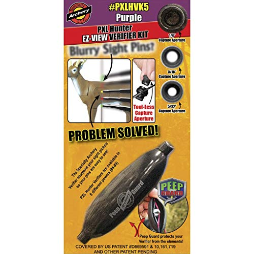 Specialty Archery - PXL Hunter EZ-View - Verifier Kit - w/ #5 Verifier & Peep Guard - Purple