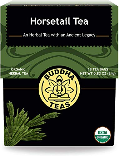 Buddha Teas Organic Horsetail Tea | 18 Bleach-Free Tea Bags | Optimizes Urinary Tract Health | Supports Hair Growth and Bone Development | Natural Source of Vitamin C | Caffeine-Free | No GMOs