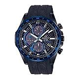 [カシオ]腕時計 エディフィス EQS-900PB-1BV メンズ 腕時計 ソーラークロノグラフ 2019年モデル ブルーxブラック ウレタンバンド レーシング カーボン バッテリーインジケーター機能 令和 [並行輸入品]
