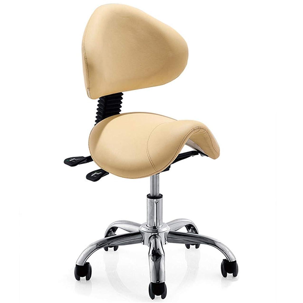 ストリーム毒メタリックサロンチェア油圧理髪店チェアサロンスパモデリングチェアファッションエレガントなデザイン回転可能な調節可能な高さ取り外し可能な背もたれ5ローラー,Yellow