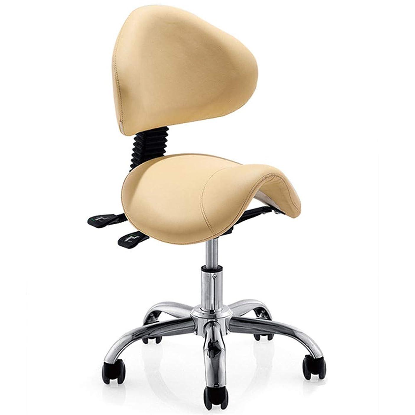 アルバムリボン結婚式サロンチェア油圧理髪店チェアサロンスパモデリングチェアファッションエレガントなデザイン回転可能な調節可能な高さ取り外し可能な背もたれ5ローラー,Yellow