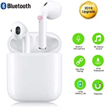 Wireless Headphones Bluetooth Earbuds Cordless Headsets Hands Free Earphones Mini Sports Headsets for iPhone Xs Max/XS/XR/X/8/7 for Galaxy Samsung S10/S9 Plus/S8/S7/S6