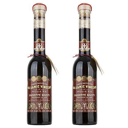 Giuseppe Giusti Riccardo Balsamic Vinegar, Product of Italy - Aged 12 Years - Simfonia Without Pourer, IGP Certified, 8.45 Fl Oz (Pack of 2)