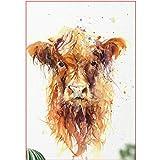 Pintura Digital DIY una Vaca desordenada Lienzo Animal decoración de la Boda Imagen de Arte Regalo 40X50cm sin Marco