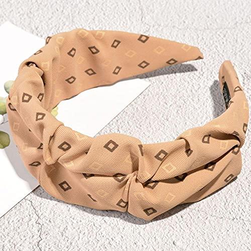 Fuduoduo Diademas para Mujer Turbantes,Diadema Lateral Ancha de Tela Plisada Simple-Tarjeta,Cintas Pelo Mujer Elasticas PañUelos