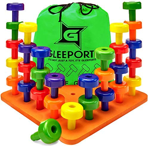 Gleeporte Stacking Peg Board Set...