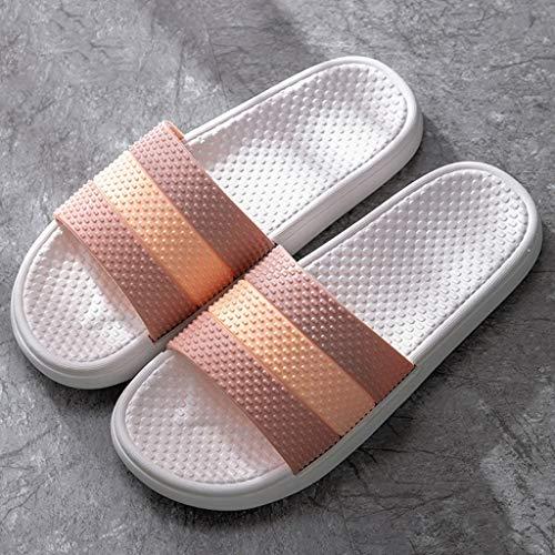 OUMIFA Hombres/Mujeres Masaje Zapatillas for baño y Ducha de Masaje de acupresión Zapatos Sandalias de Masaje Secado rápido Pantuflas Sandalias de Secado rápido (Color : A, Size : 36-37)